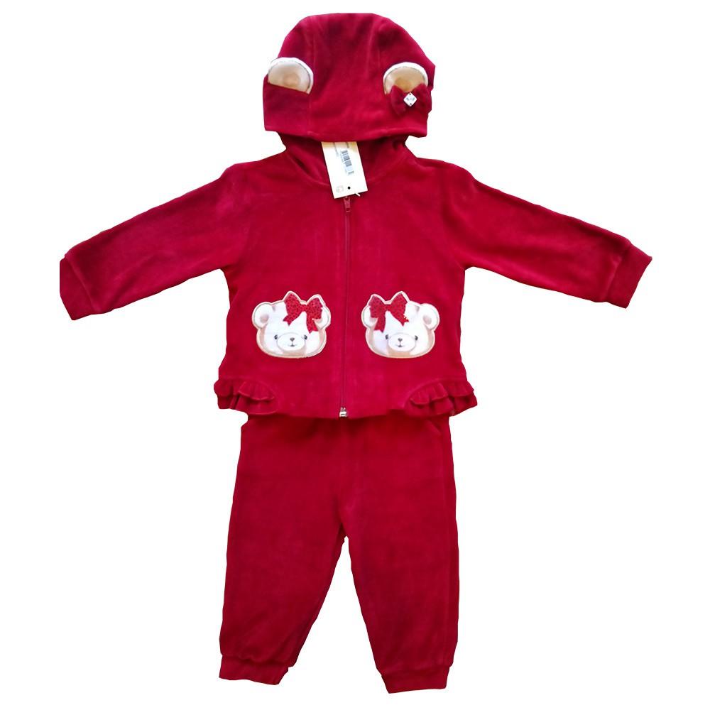 Conjunto Plush para Bebês 2 peças – Vermelho