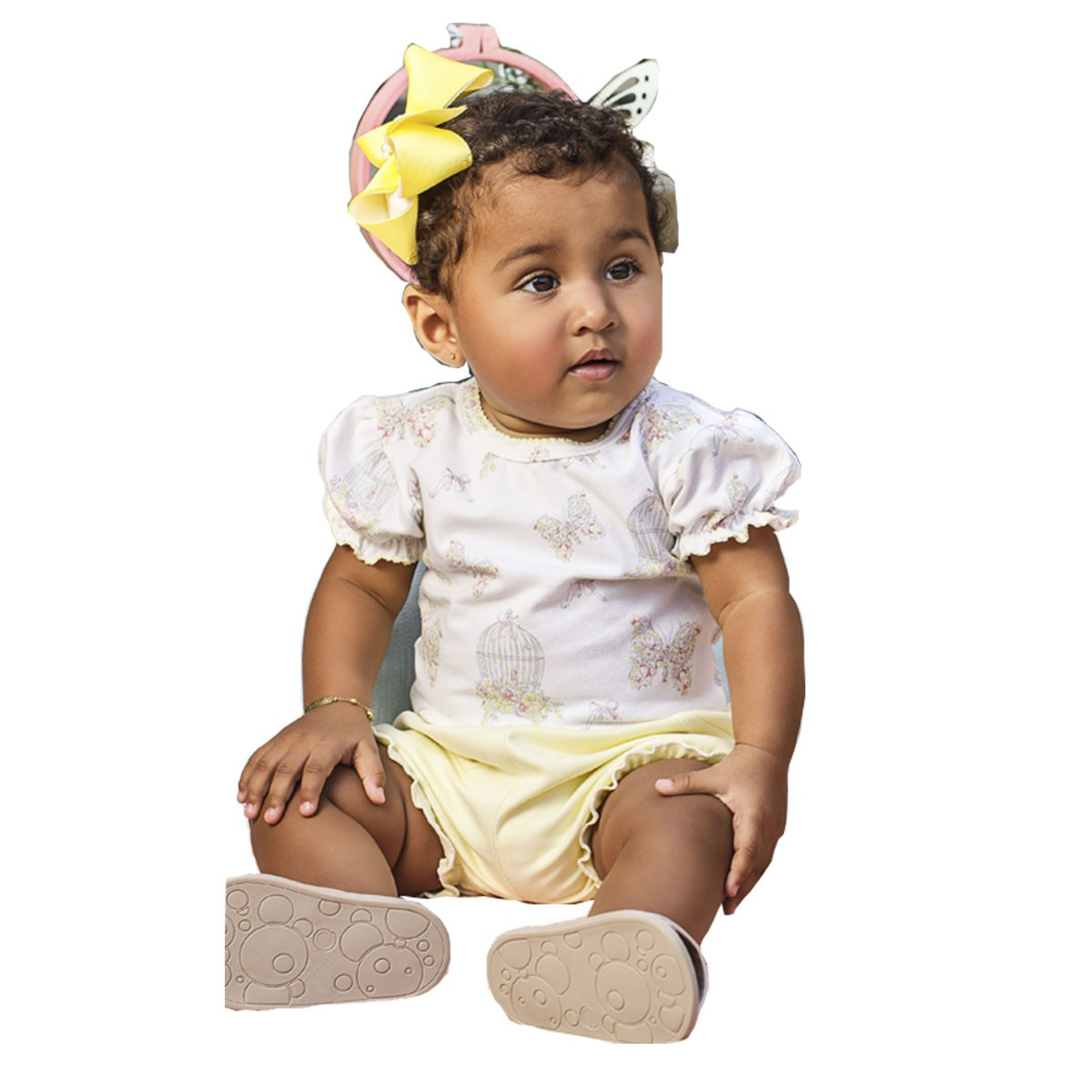 Conjunto Verão para Bebês 2 peças – Gaiolinha Floral