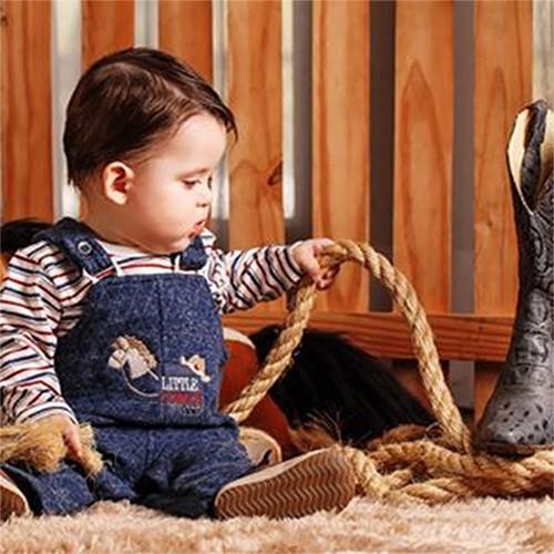 Jardineira e Body Manga Longa Cowboy