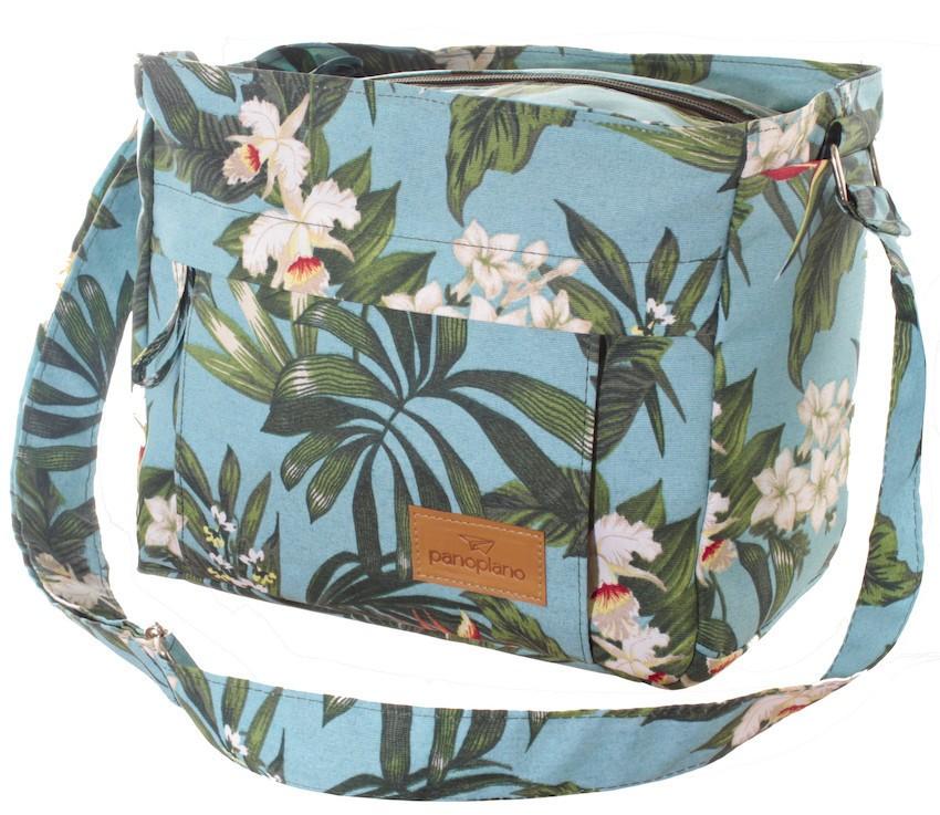 Bolsa Orquídea Turquesa Impermeável