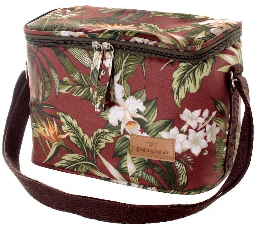 Bolsa Térmica Orquídea Terracota Impermeável
