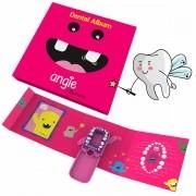 Kit Fada do Dente Álbum Porta Dentinhos Rosa Angie by Angelus