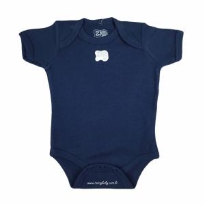 Body Manga Curta Bebê Menino Azul Marinho Zig Mundi