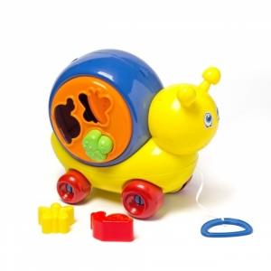 Brinquedo Didático Para Bebê Play Time Caracol Colorido 22cm - Cotiplás
