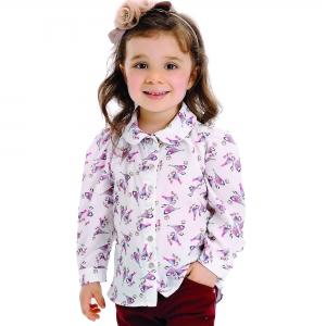 Camisa Infantil de Seda Passarinho
