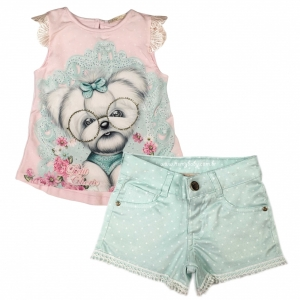 Conjunto Blusa Mc e Shorts