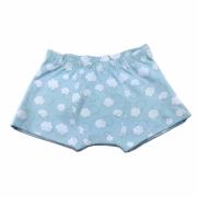 Cueca Infantil Boxer Nuvem Azul em Malha de Algodão Pirlipat