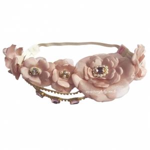 Headband Luxo Rosa Seco