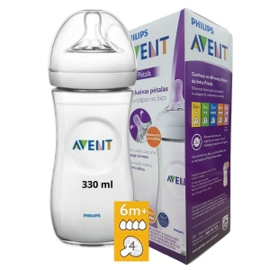 Mamadeira Pétala Anti Cólica 330ml Transparente Philips Avent