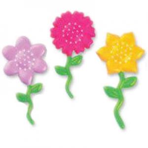 Palito Decorativo Flores Coloridas
