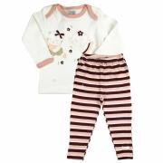 Pijama Bebê Menina Manga longa e Calça comprida Rosê Zig Mundi