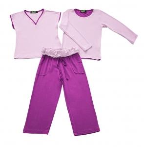 Pijama Sanne Lilás com Fúcsia Gumii