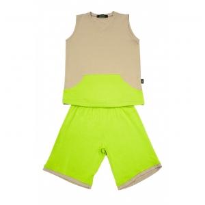 Pijama Thor Areia com Verde Limão Gumii