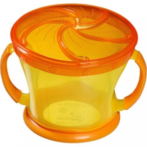 Porta Biscoitinhos Click Lock Amarelo/ Laranja Munchkin