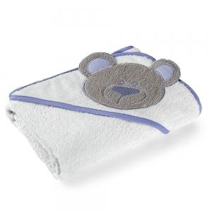 Toalha de Banho com Capuz Azul