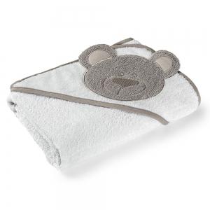 Toalha de Banho com Capuz Bege