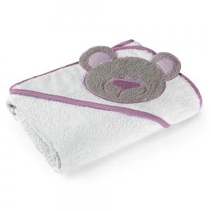 Toalha de Banho com Capuz Rosa