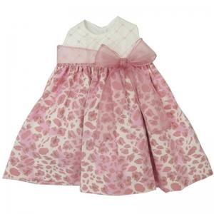 Vestido Onça Rosa Pala Bordada Kopela