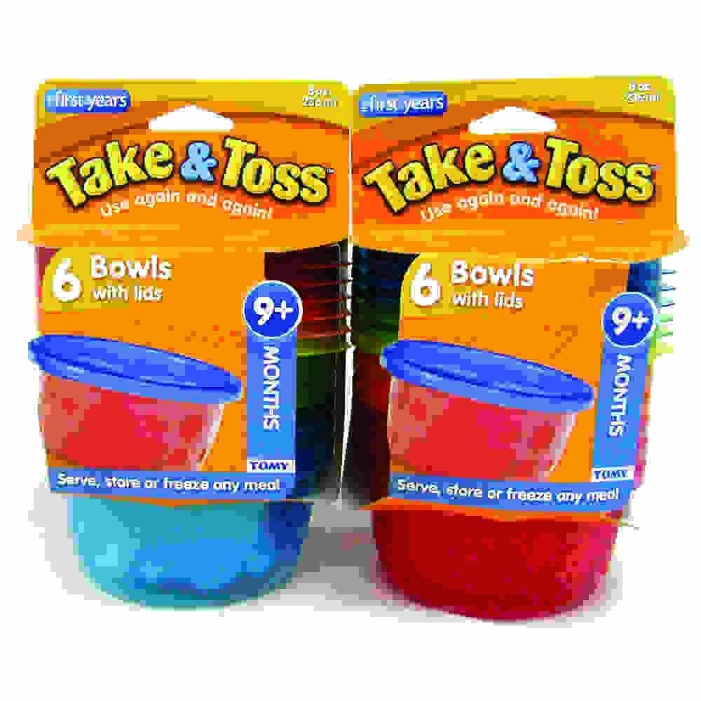 6 Potes Infantis com Tampa - 236 ml