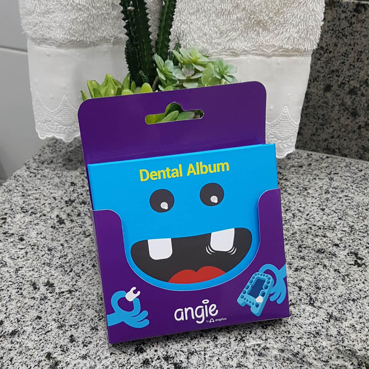 Kit Fada do Dente Álbum Porta Dente De Leite Dentinhos Azul Angie by Angelus