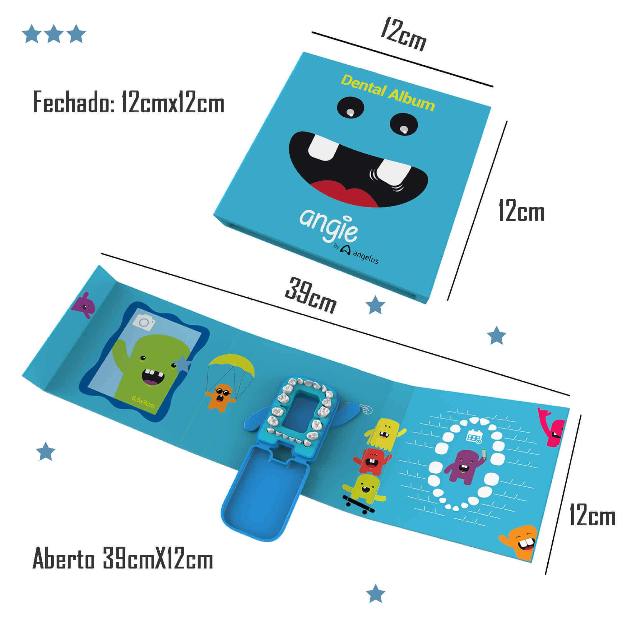 2 Álbum Porta Dente De Leite Kit Criança Feliz Azul e Rosa