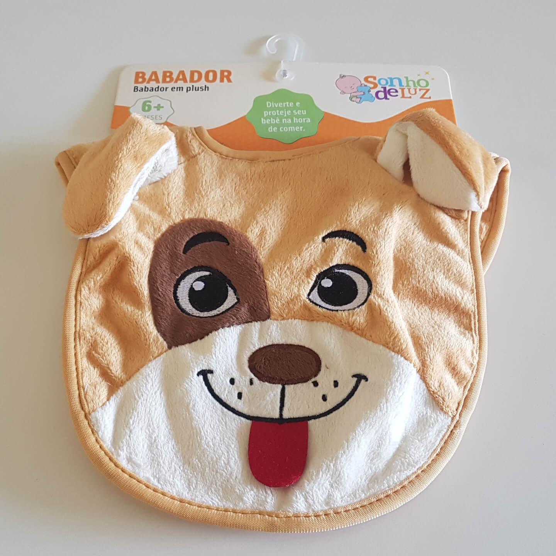 Babador de Bebê Em Plush Cachorro Sonho De Luz