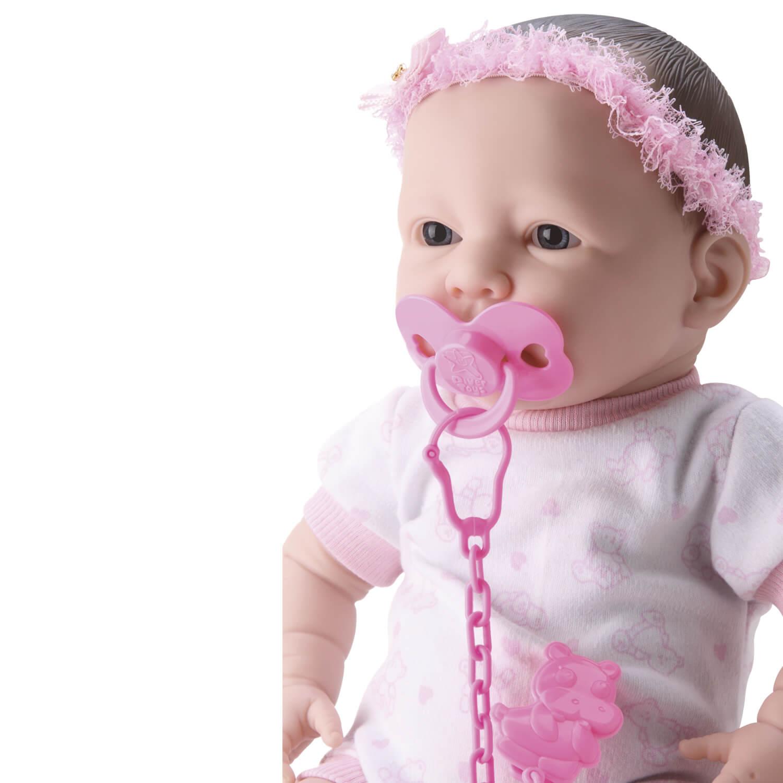 Boneca Bebe Newborn Estilo Reborn Faz Xixi Vem Com Mamadeira Chupeta e Fraldinha