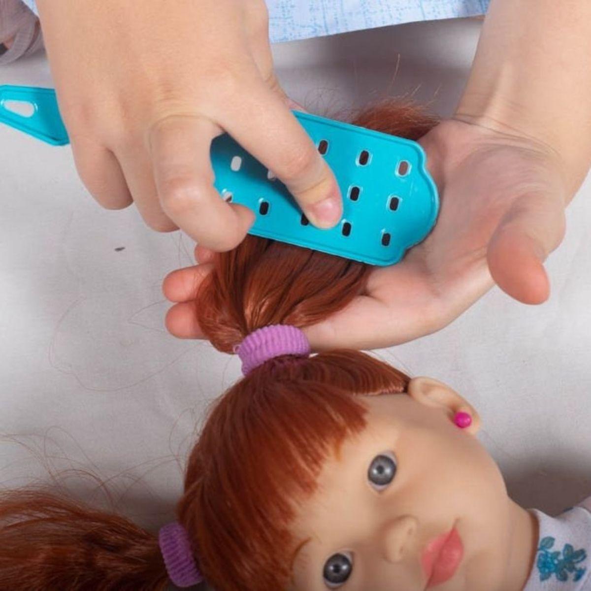 Boneca Kiara Beauty Para Brincar de Salão de Beleza Meninas