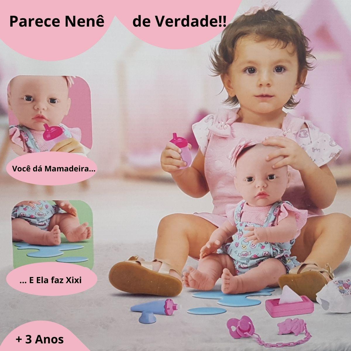 Boneca Newreborn Cuidados Faz Xixi Abre E Fecha Os Olhos Divertoys