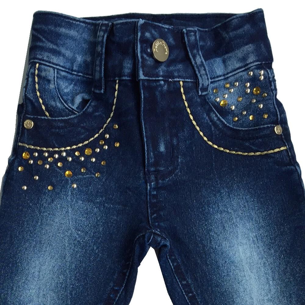 Calça Jeans com Aplicação Petit Cherie