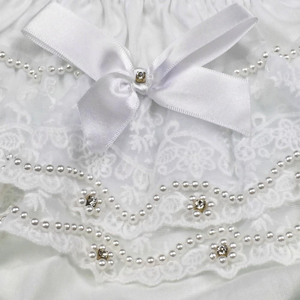 Calcinha Especial Branco Renda Roana