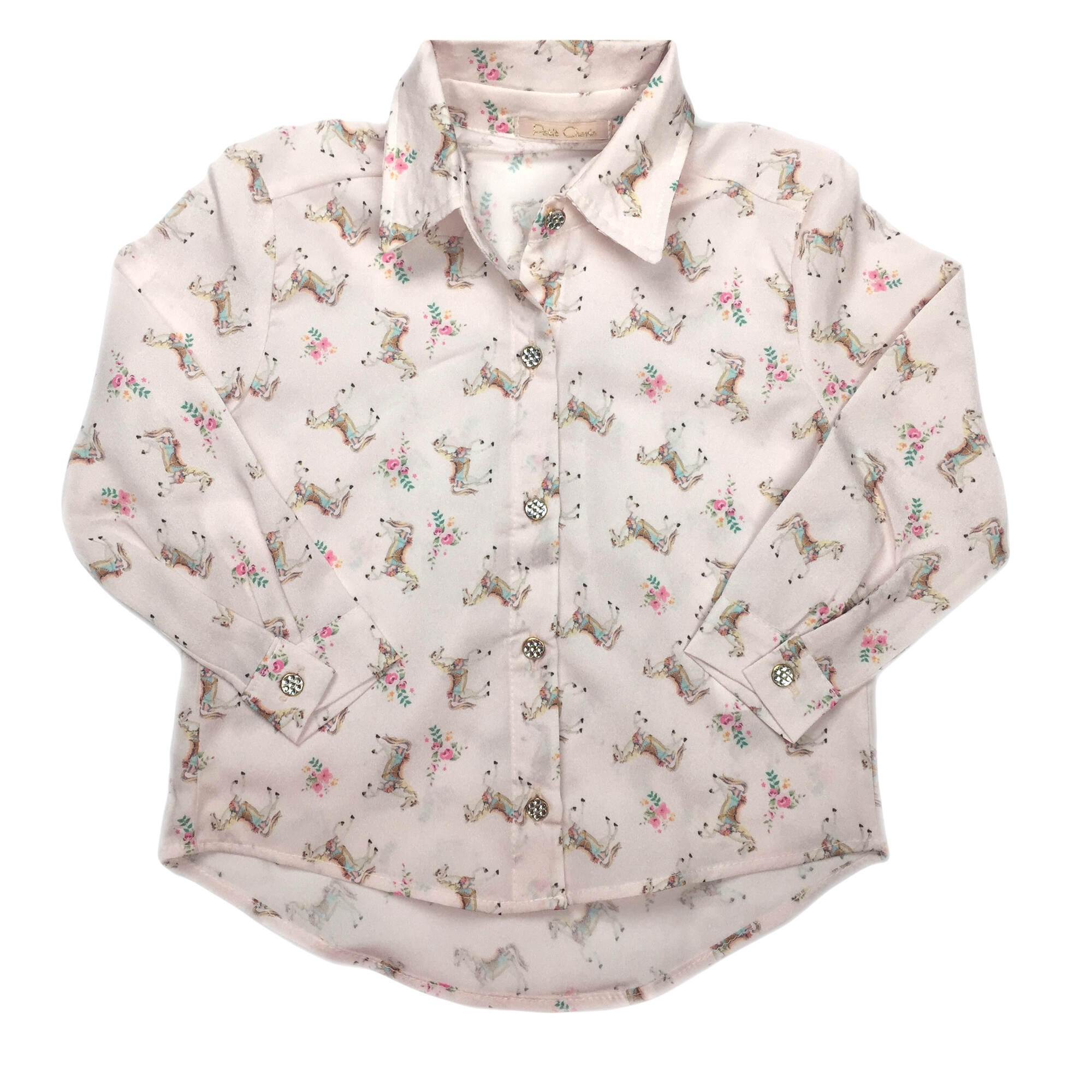 Camisa Infantil de Seda Cavalinho