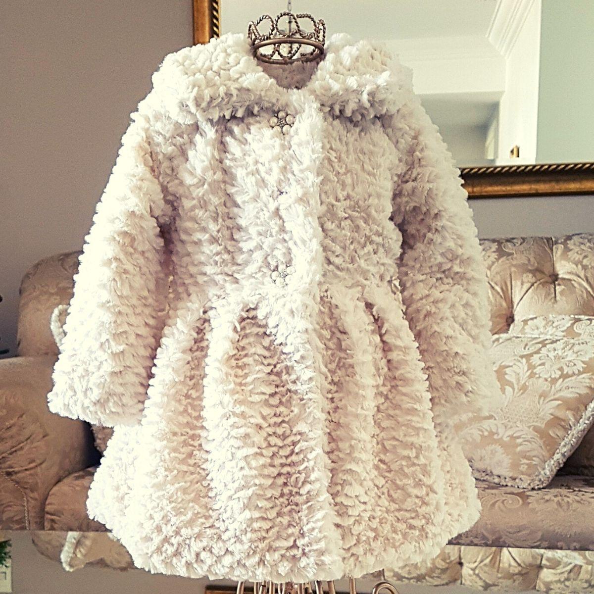 Casaco Infantil Pelinho Petit Cherie Fashion Luxo Inverno