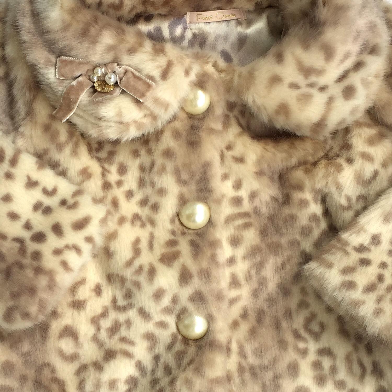 Casaco de Pele com Laço de Veludo Petit Cherie