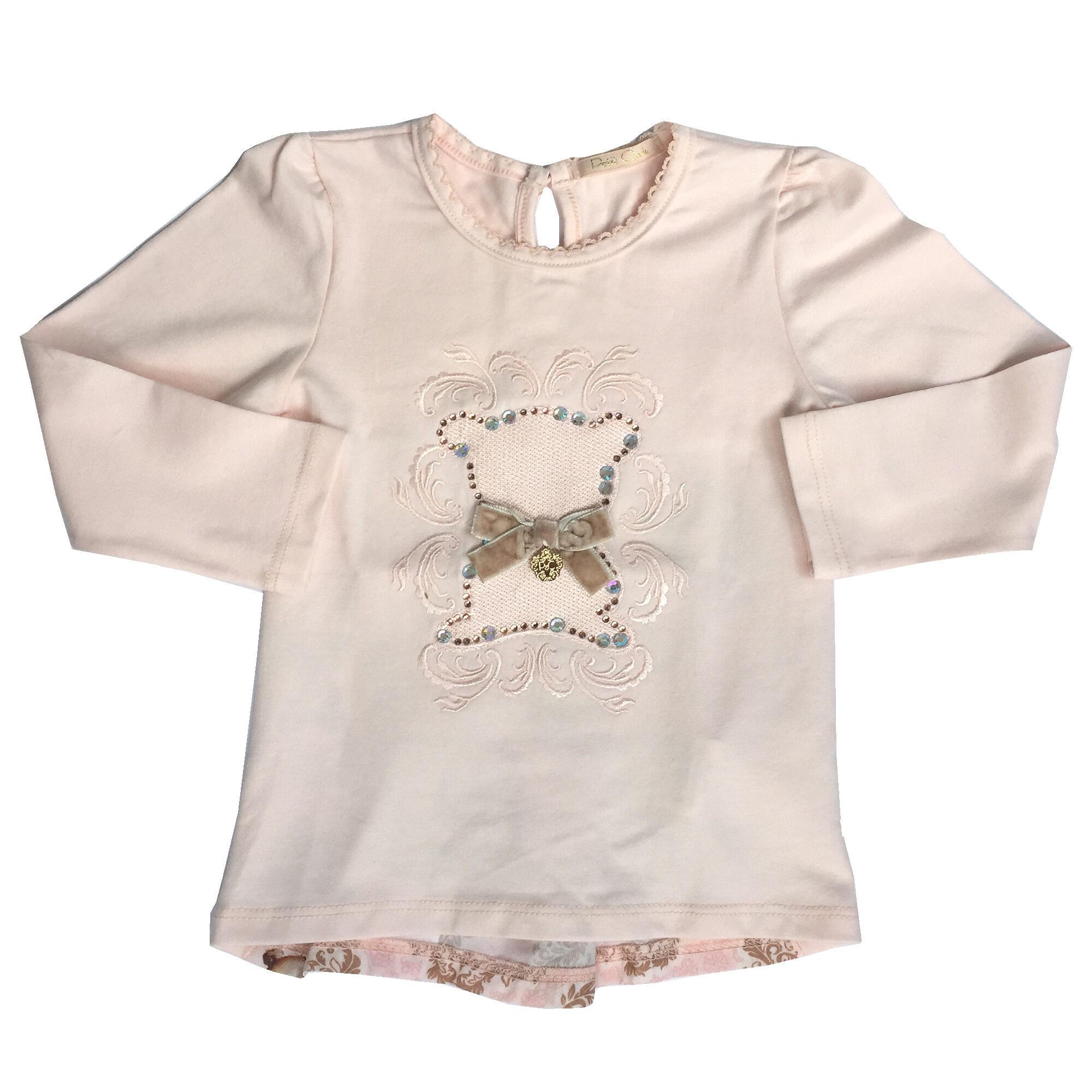 Conjunto Blusa com Bordado e Calça Sarja Petit Cherie