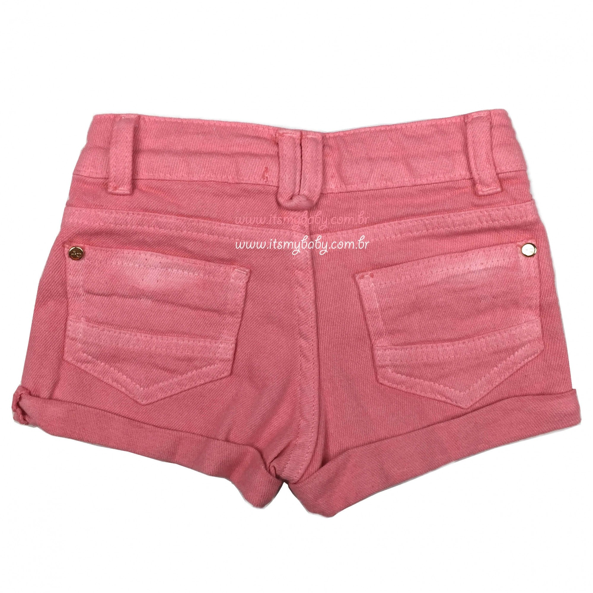 Conjunto Blusa e Shorts Rosa Petit Cherie