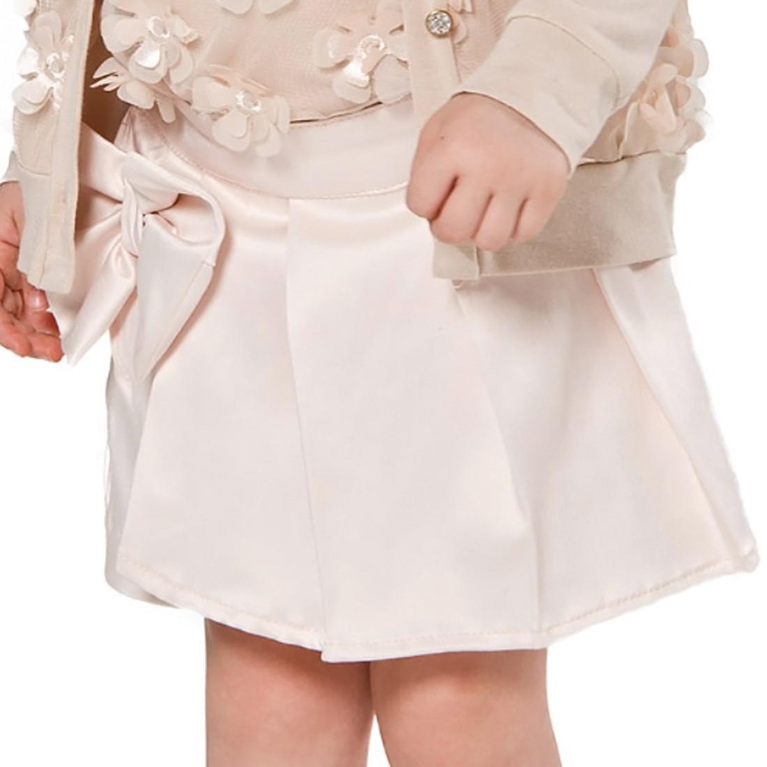 Conjunto Regata com Flores e Shorts Saia Petit Cherie