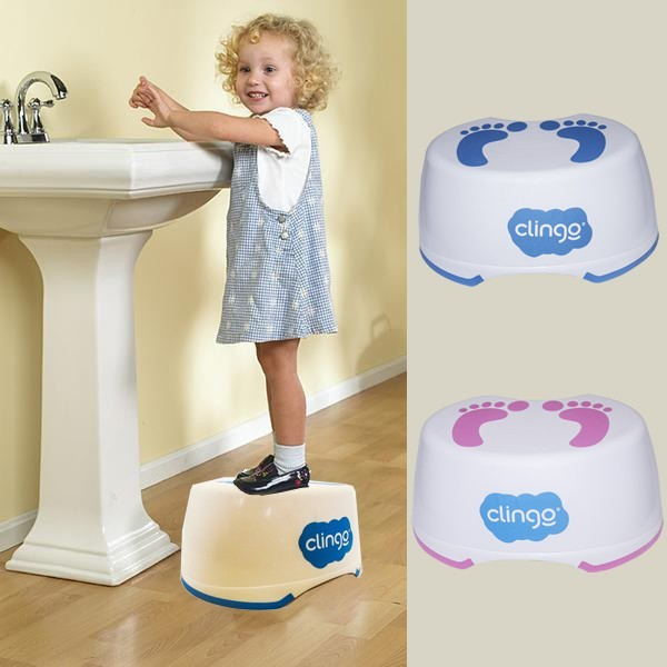 Degrau Infantil Step Pezinhos Rosa