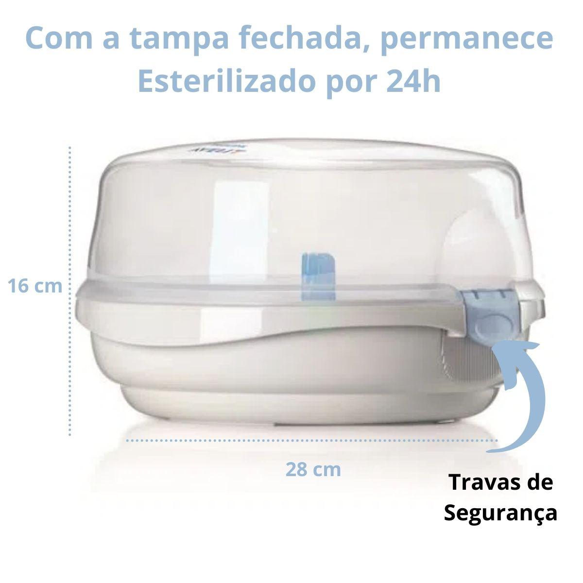 Esterilizador De Mamadeira e Chupeta A Vapor Micro-ondas Avent
