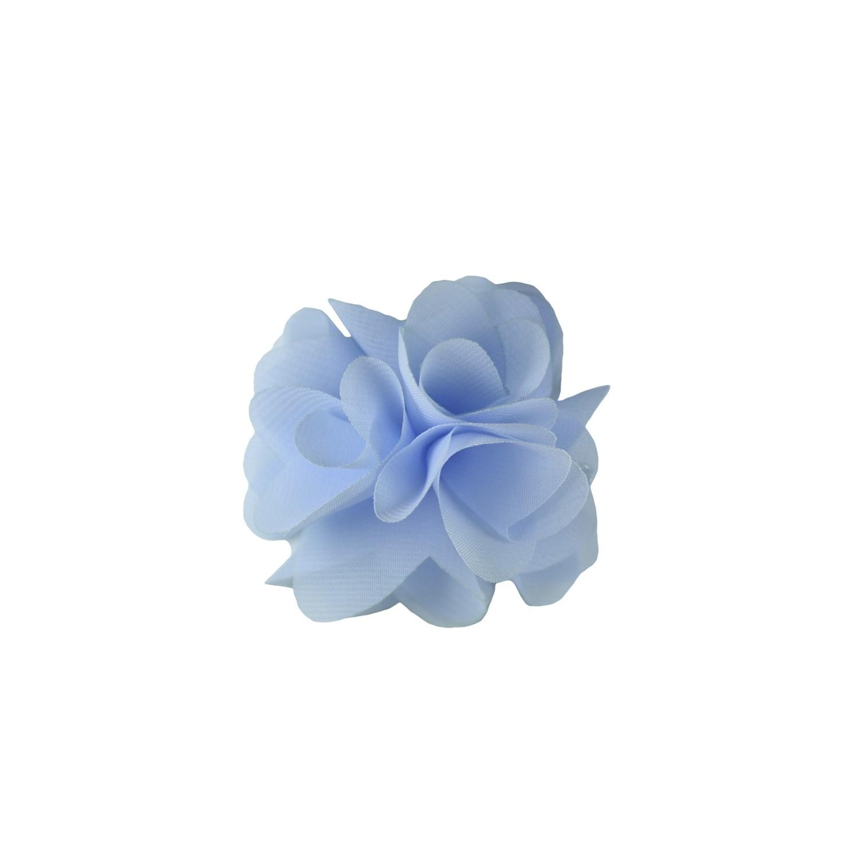 Flor para Cabelo de Chiffon Gumii Azul Claro