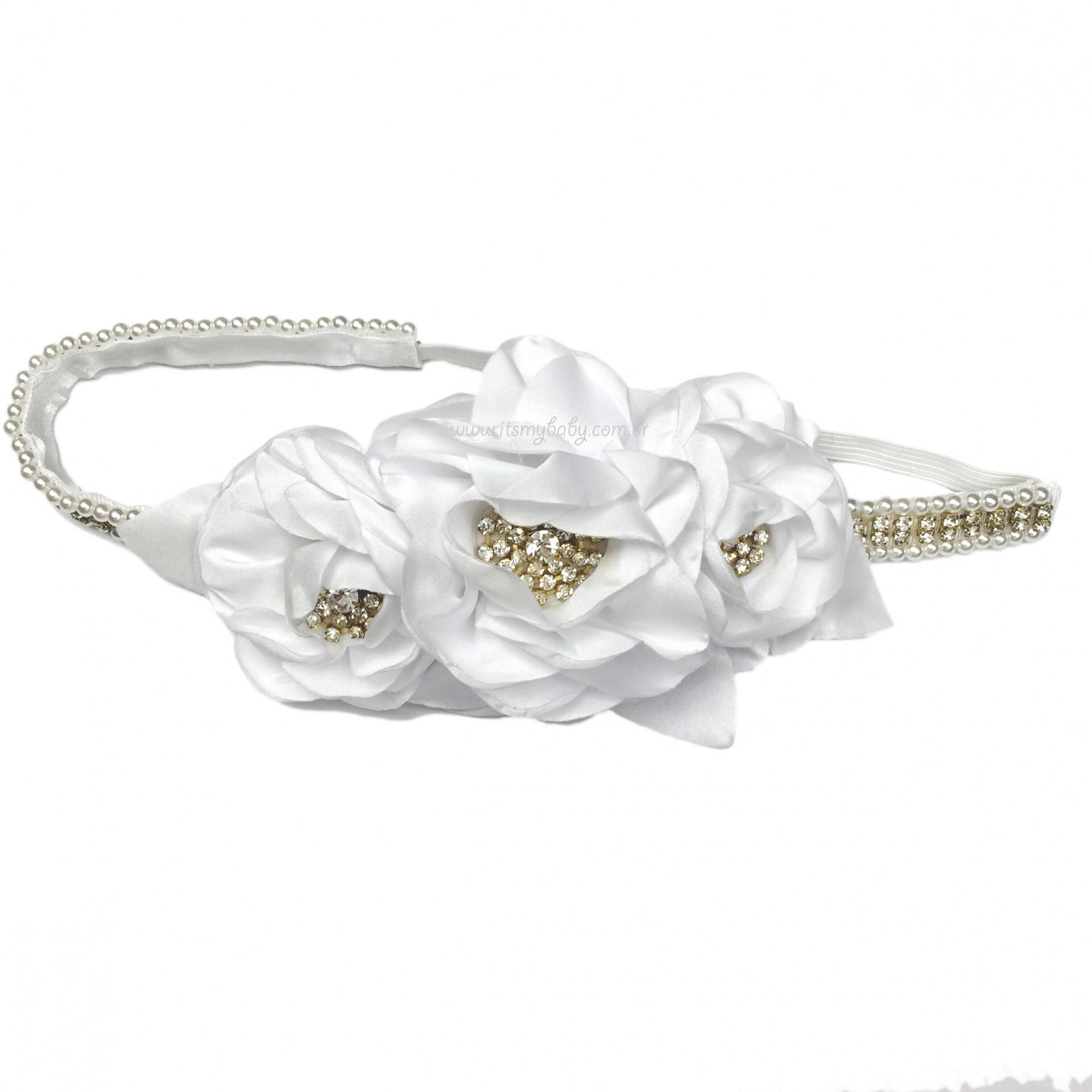 Headband Luxo Branco Roana