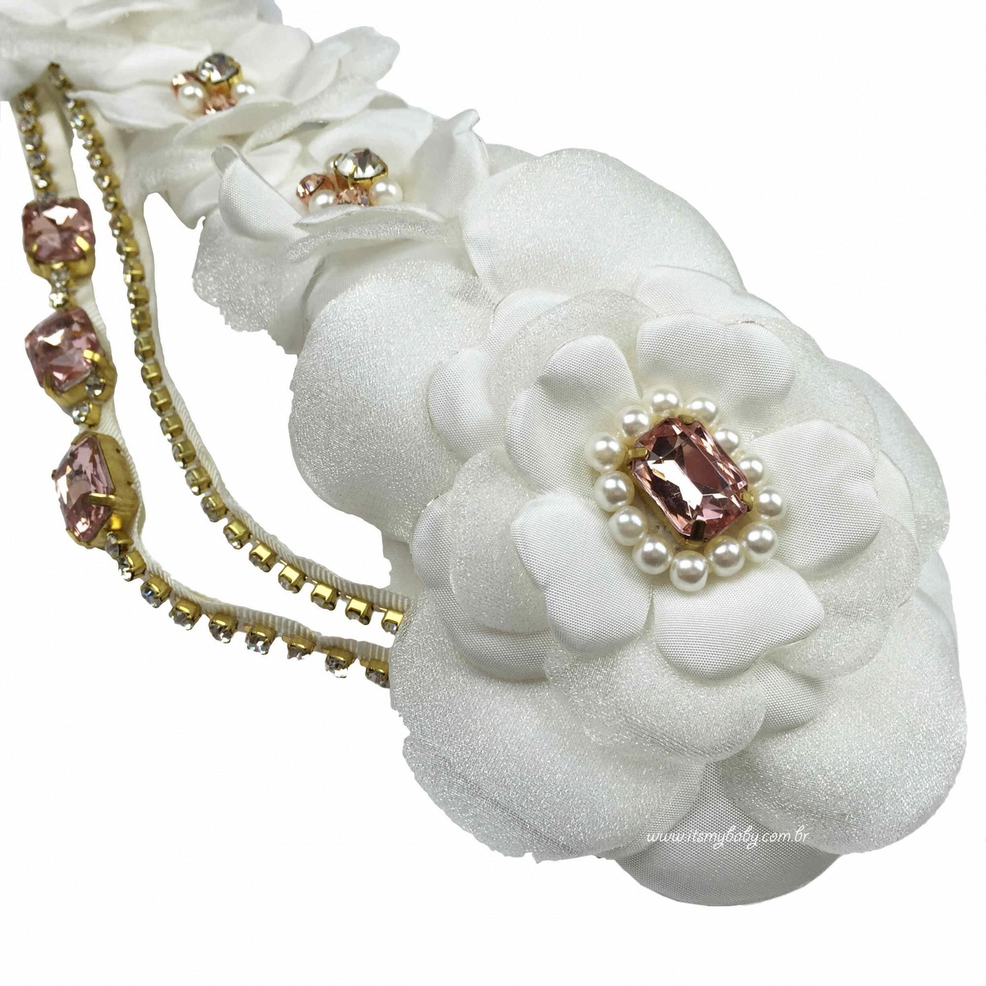 Headband Luxo Marfim Roana
