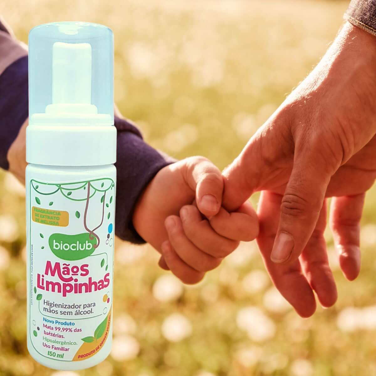 Higienizador Para Mãos Sem Álcool 150ml Orgânico Bioclub Baby