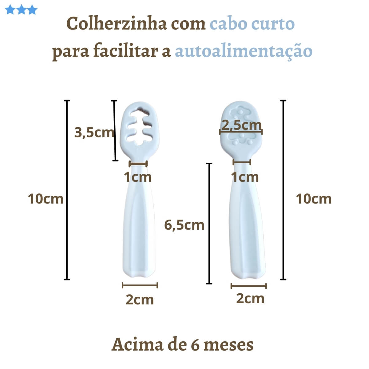Kit Colher De Treinamento Cinza Buba Baby