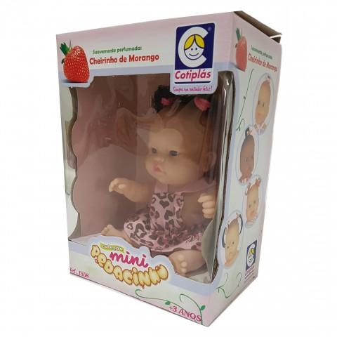 Kit Com 2 Bonecas Mini Bebê Pedacinho com Cheirinho de Morango Helena e Sofia