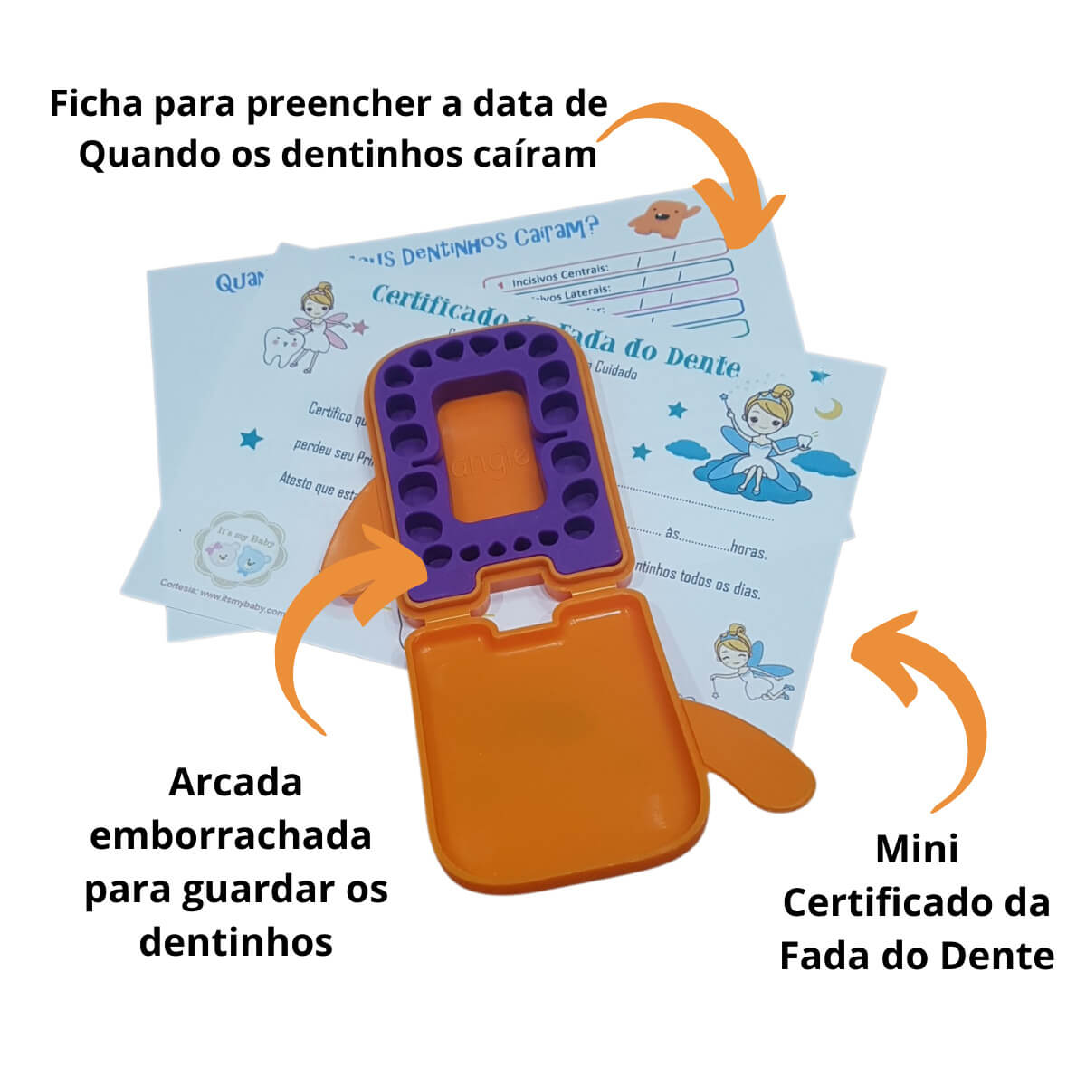 Kit Fada do Dente Laranja Angie by Angelus