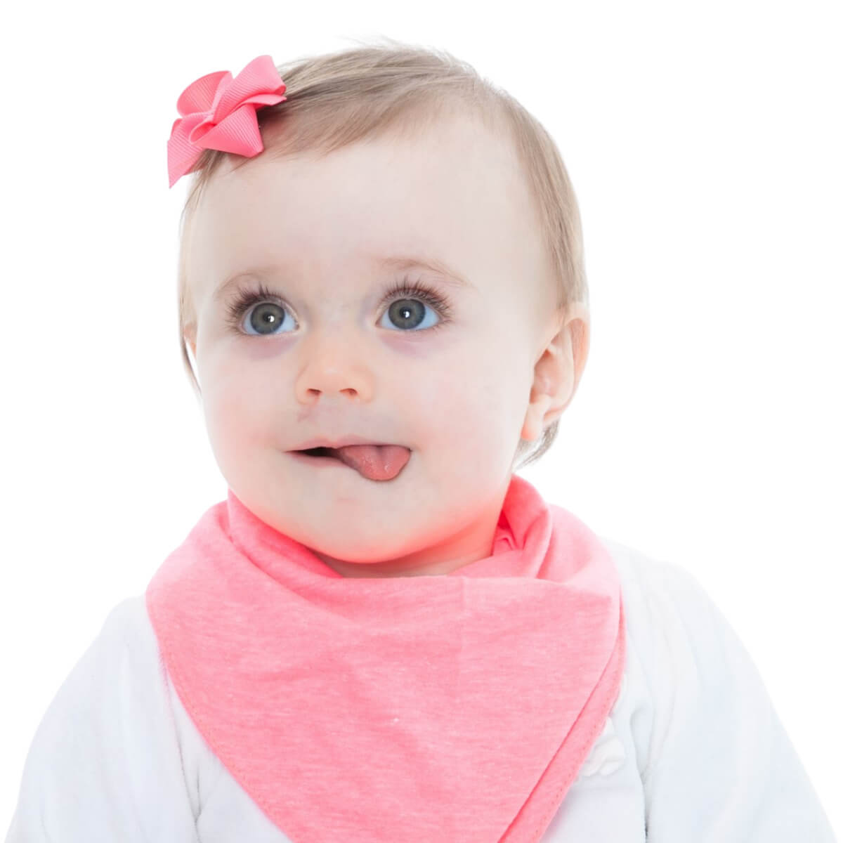 Kit Laço Babador Bandana Gumii Bebê Menina Borboleta Rosa