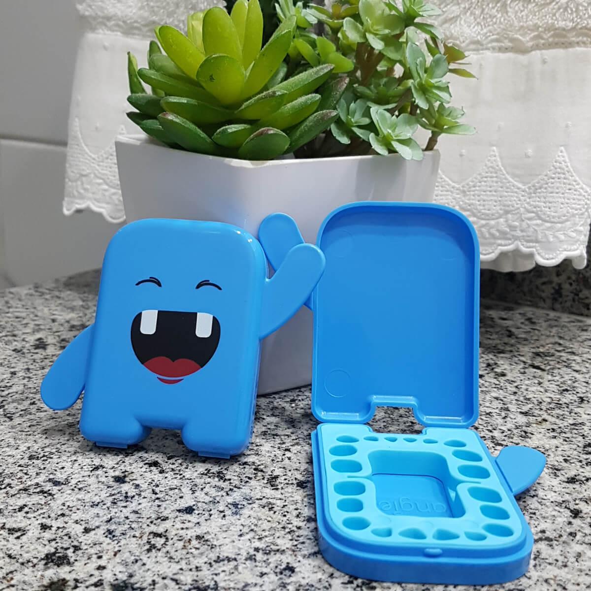 Kit Porta Dentinho + Escovinha de Dente