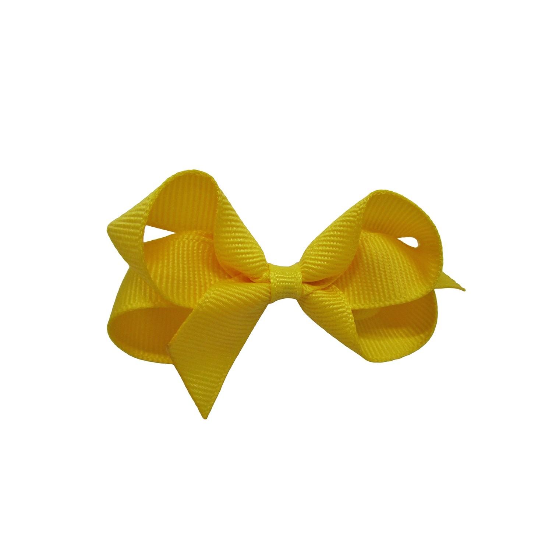 Laço Gumii Gorgurão Amarelo Milho 7cm