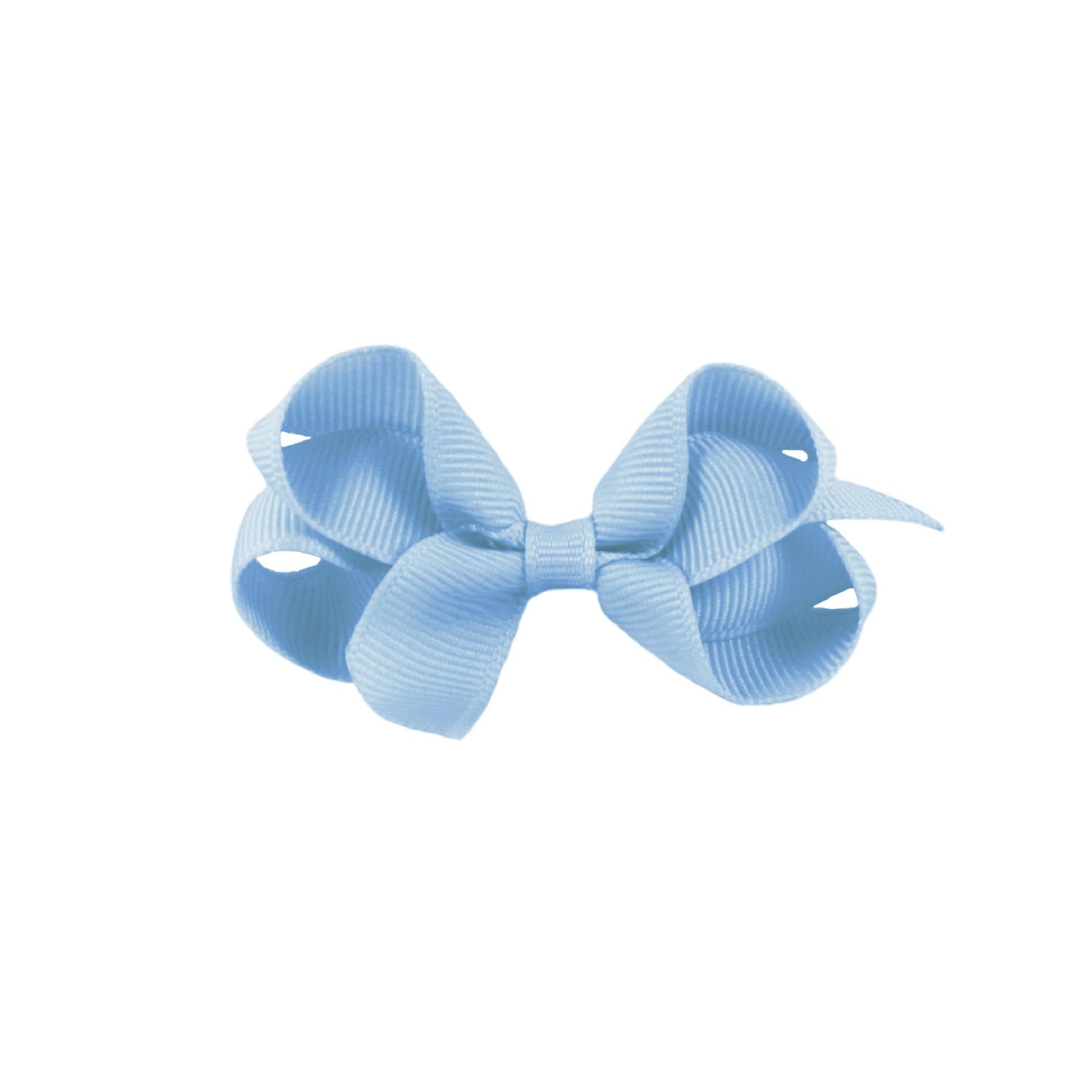 Laço Gumii Gorgurão Azul Bebê 7cm